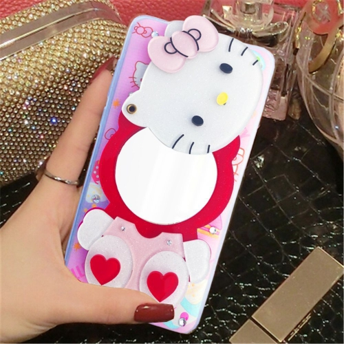 deeaecbf83 ... KC Mirror Kitten with Red Hearts Diamonds Studs Back Cover for Apple  iPhone 7 - Pink